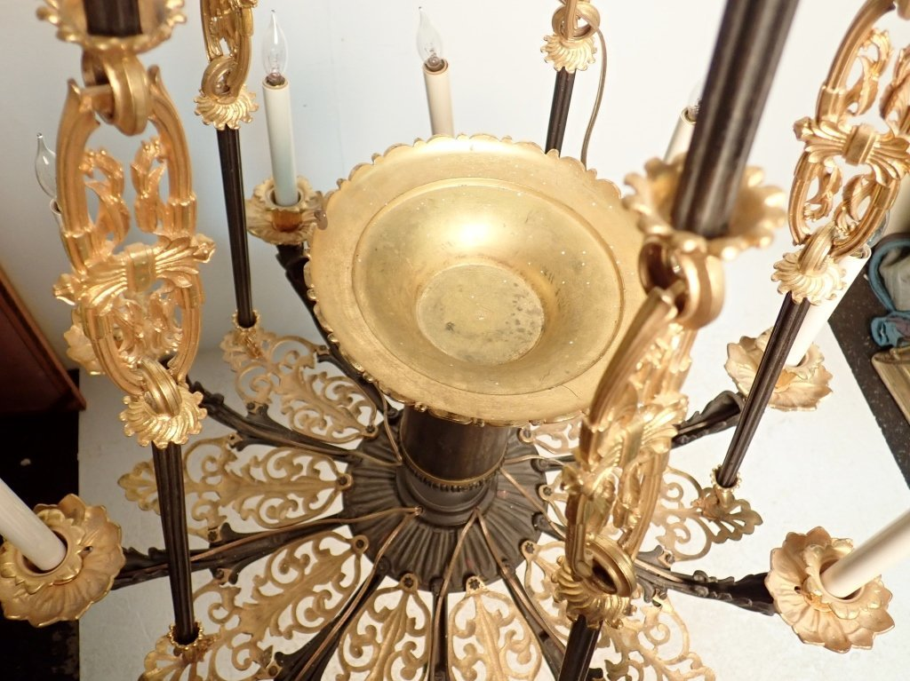 19th Century Louis Philippe Bronze Chandelier - 9