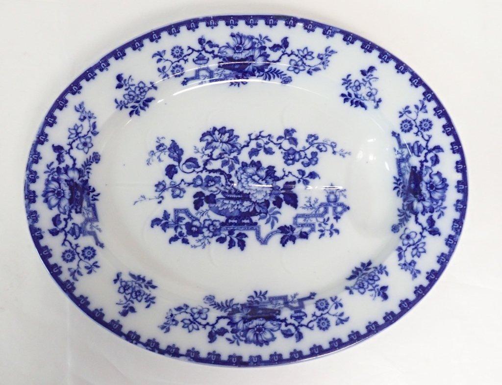 Blue & White Ashford Ironstone Serving Platter