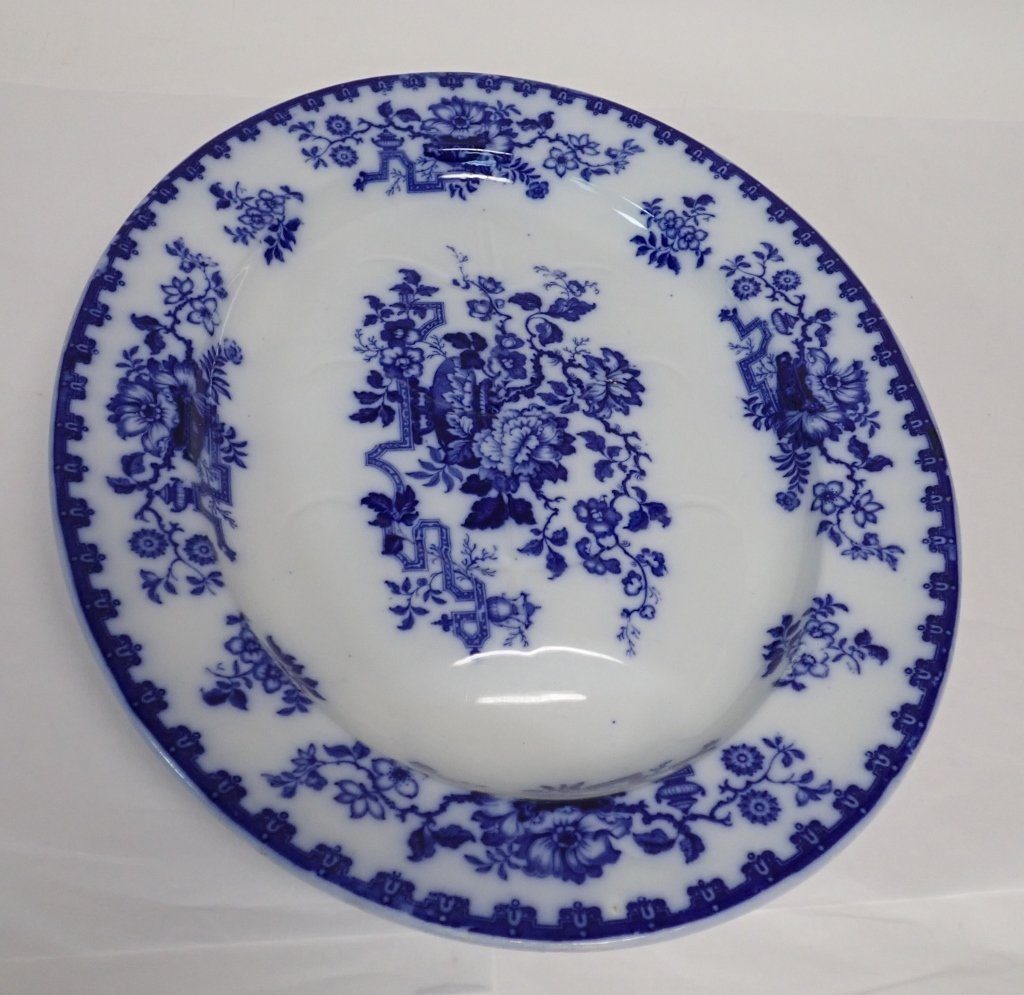 Blue & White Ashford Ironstone Serving Platter - 7