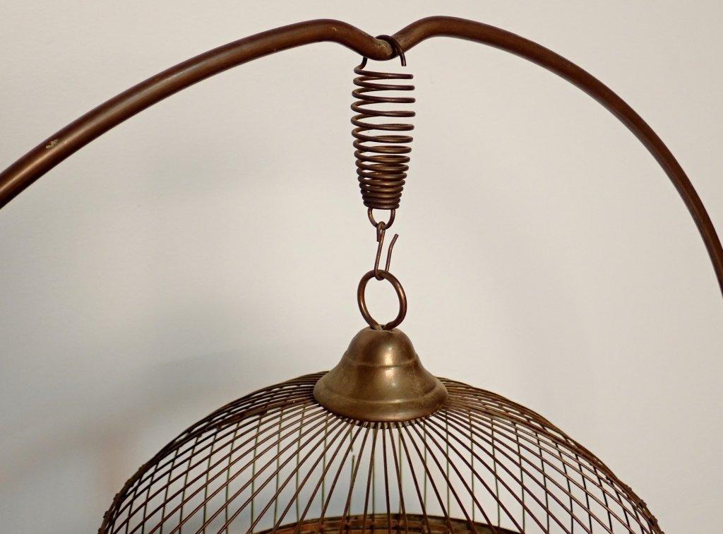 Hendryx Brass Standing Bird Cage - 10