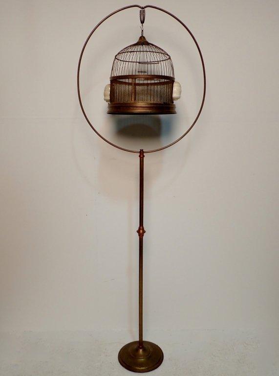 Hendryx Brass Standing Bird Cage