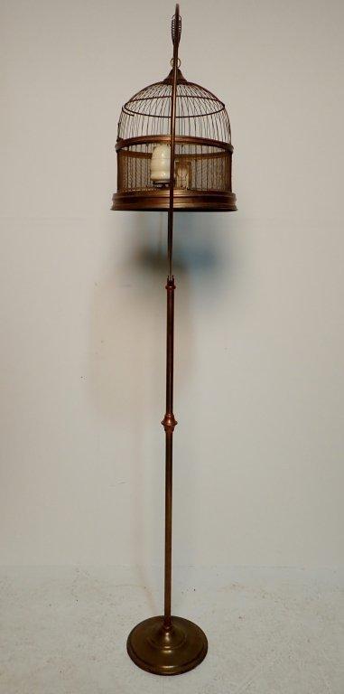 Hendryx Brass Standing Bird Cage - 4