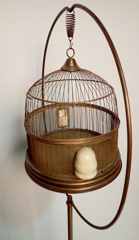 Hendryx Brass Standing Bird Cage - 5