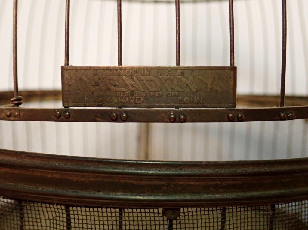 Hendryx Brass Standing Bird Cage - 8