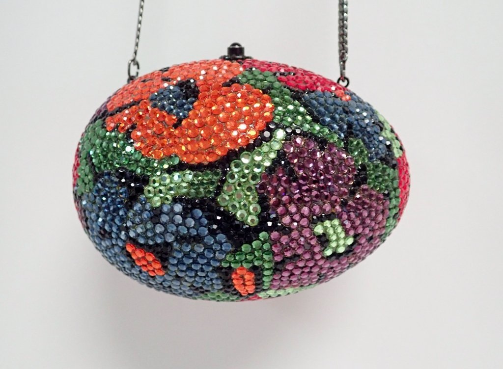 Multi-Color Crystal Egg Shaped Purse - 10