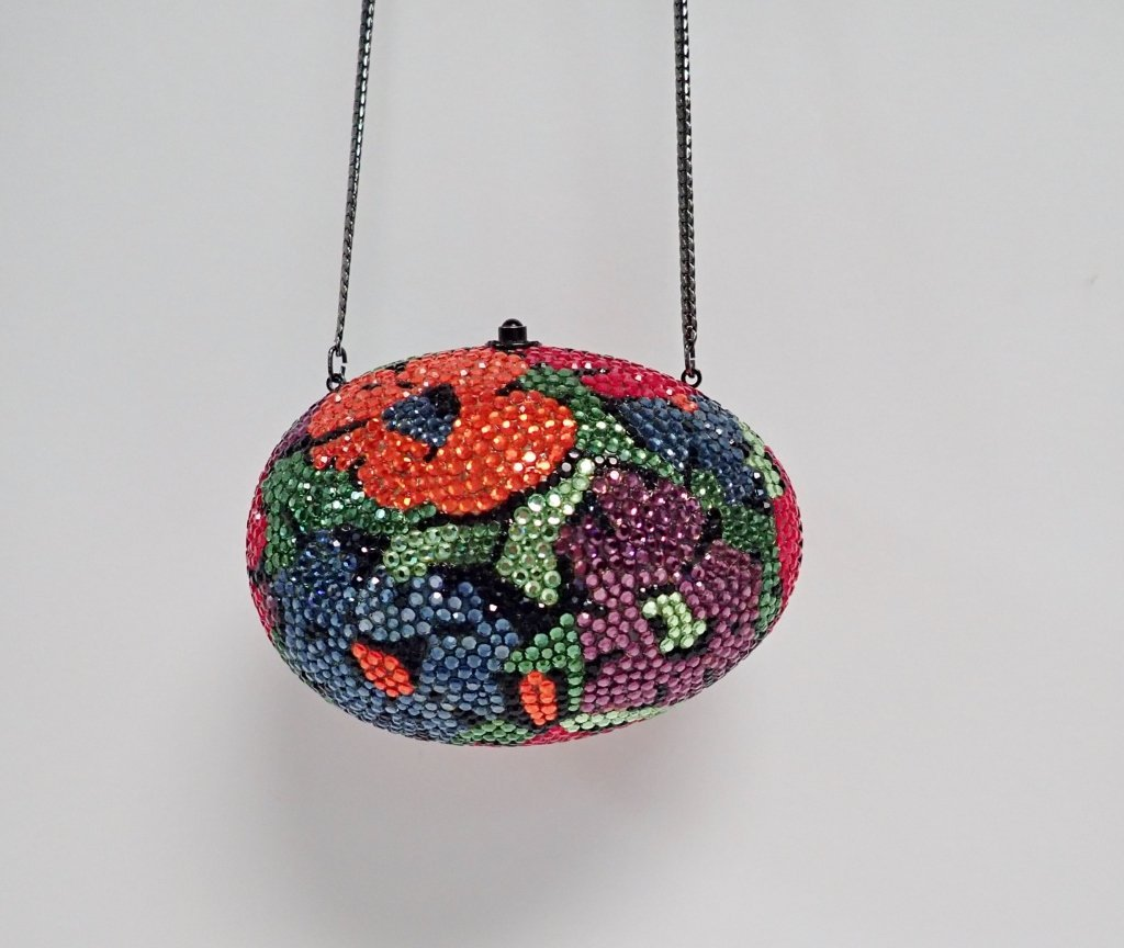 Multi-Color Crystal Egg Shaped Purse