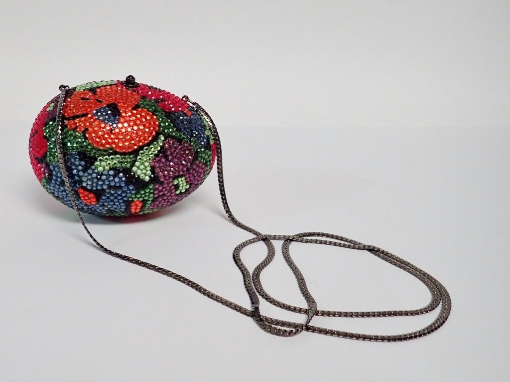 Multi-Color Crystal Egg Shaped Purse - 2