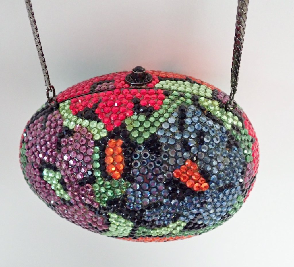 Multi-Color Crystal Egg Shaped Purse - 3