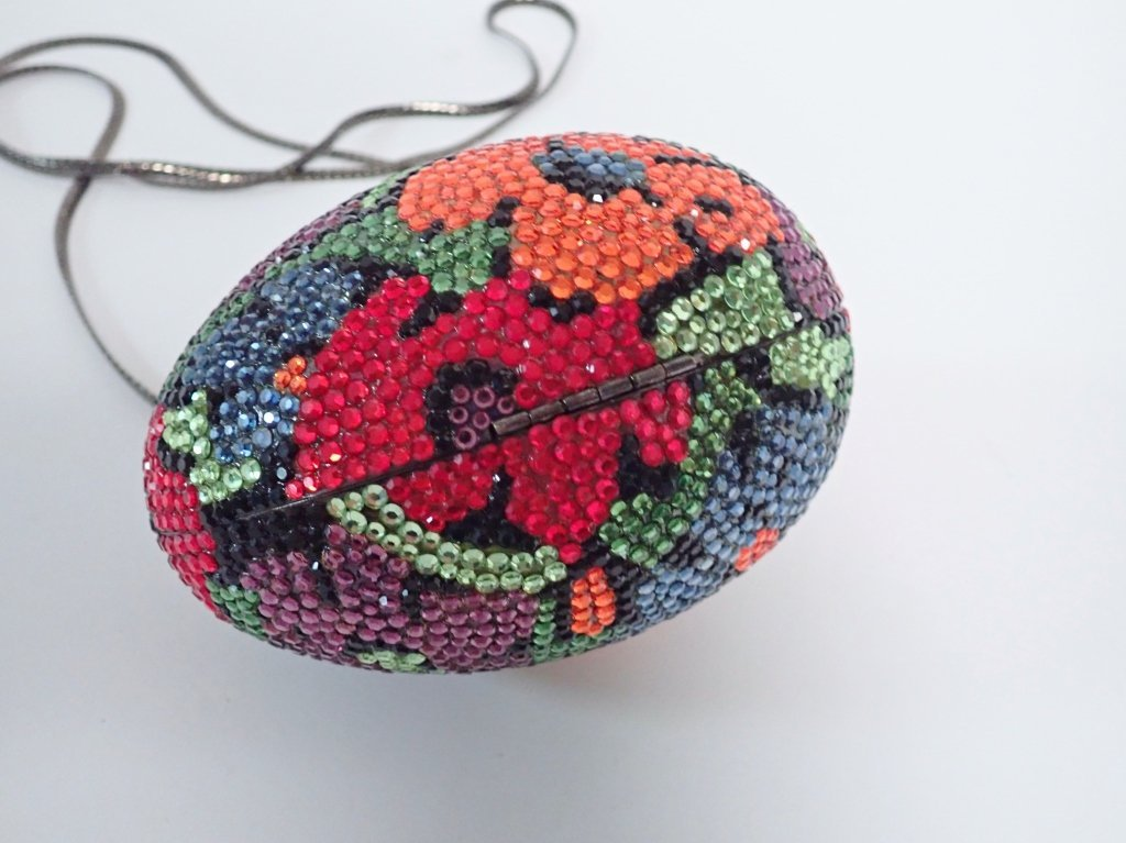 Multi-Color Crystal Egg Shaped Purse - 6