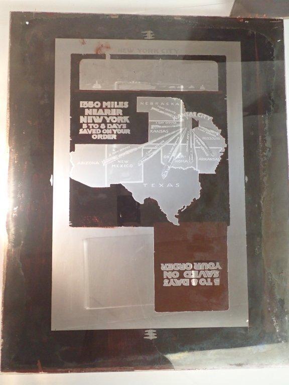 3 Vintage Plate Glass Advertising Negatives - 7