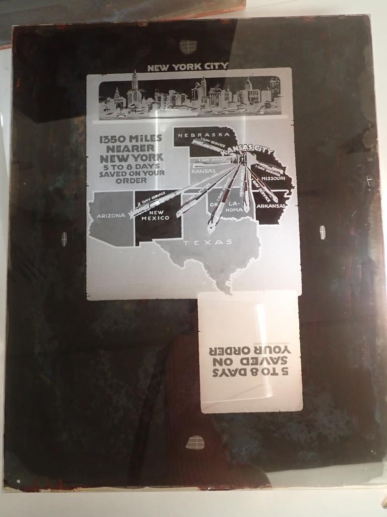 3 Vintage Plate Glass Advertising Negatives - 8