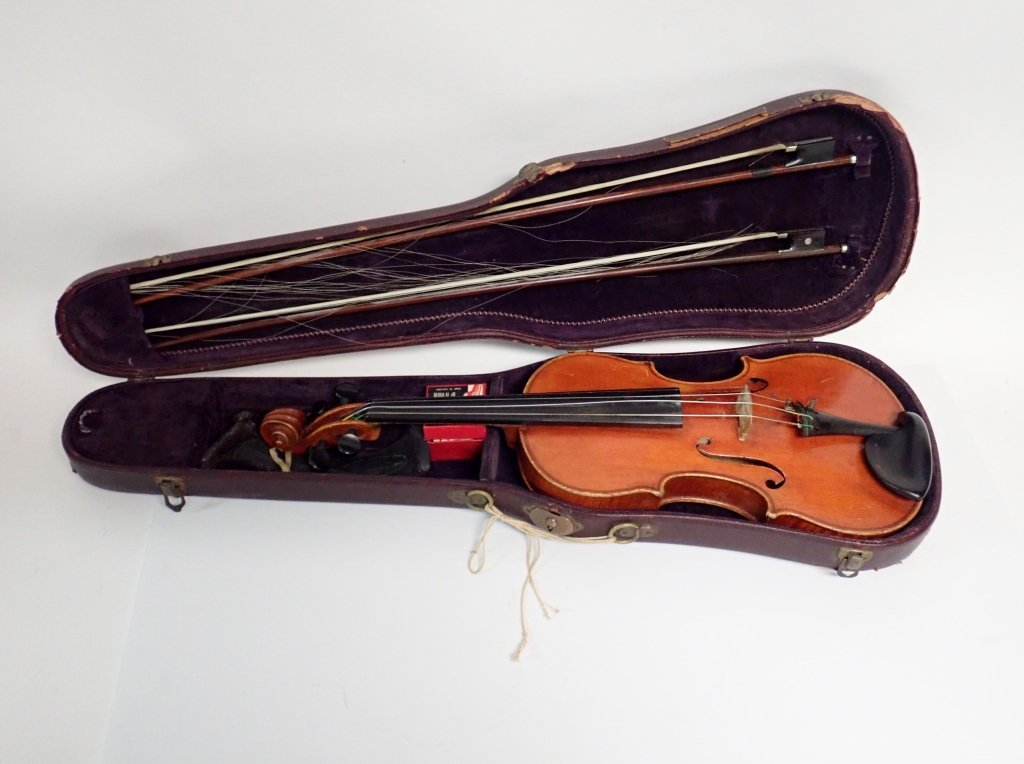Vintage German Heinrich Heberlein Violin with Case