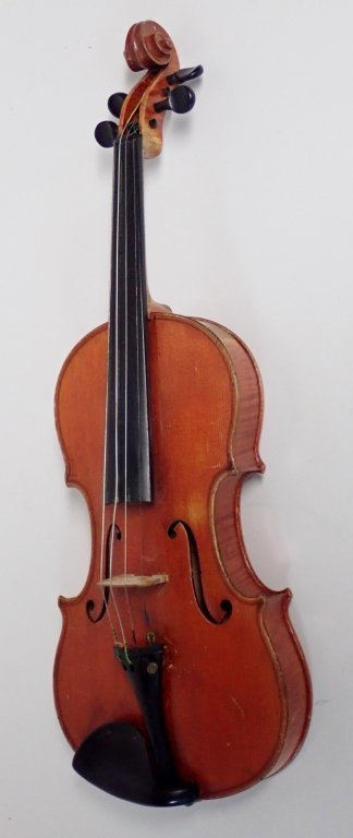 Vintage German Heinrich Heberlein Violin with Case - 3