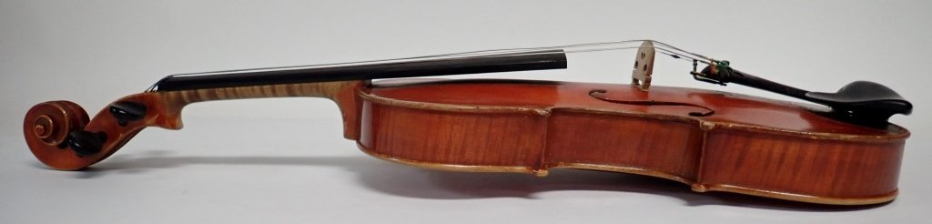 Vintage German Heinrich Heberlein Violin with Case - 6