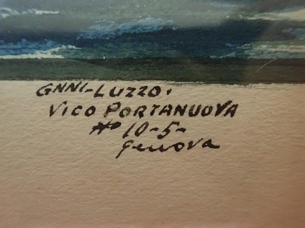 Giovanni Luzzo  (19/20th century) Ship Watercolor - 4
