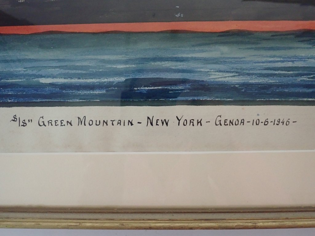 Giovanni Luzzo  (19/20th century) Ship Watercolor - 5
