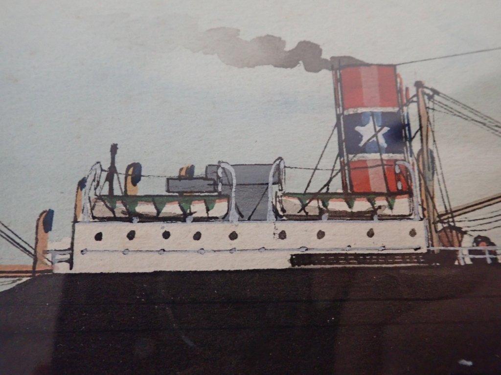 Giovanni Luzzo  (19/20th century) Ship Watercolor - 7
