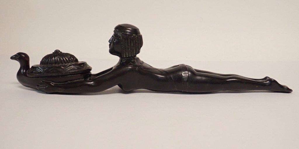 Patinated Metal Egyptian Censer Incense Burner