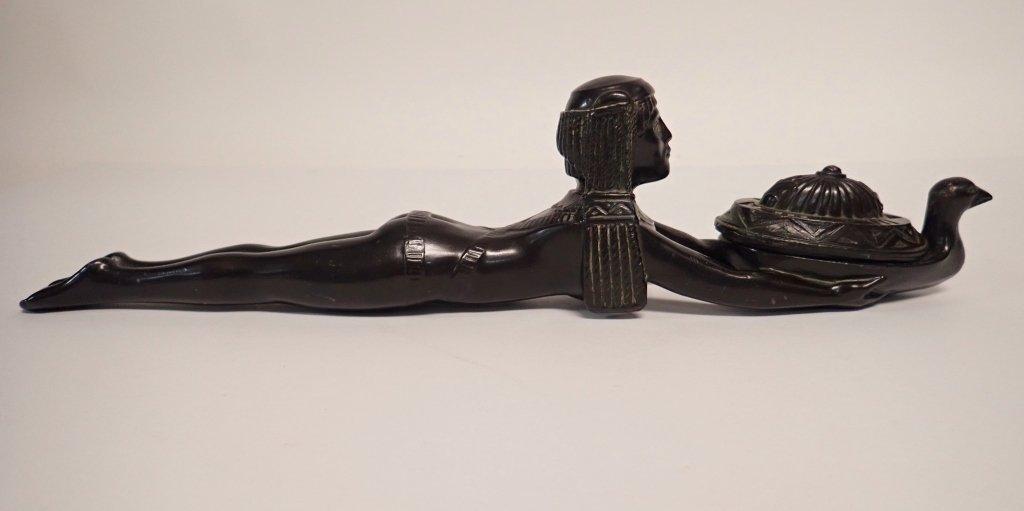 Patinated Metal Egyptian Censer Incense Burner - 3