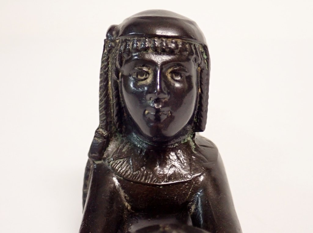 Patinated Metal Egyptian Censer Incense Burner - 8