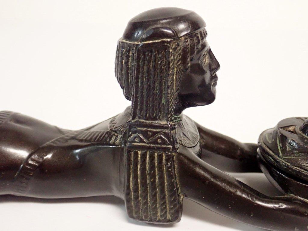 Patinated Metal Egyptian Censer Incense Burner - 9