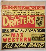 The Drifters Vintage Concert Poster