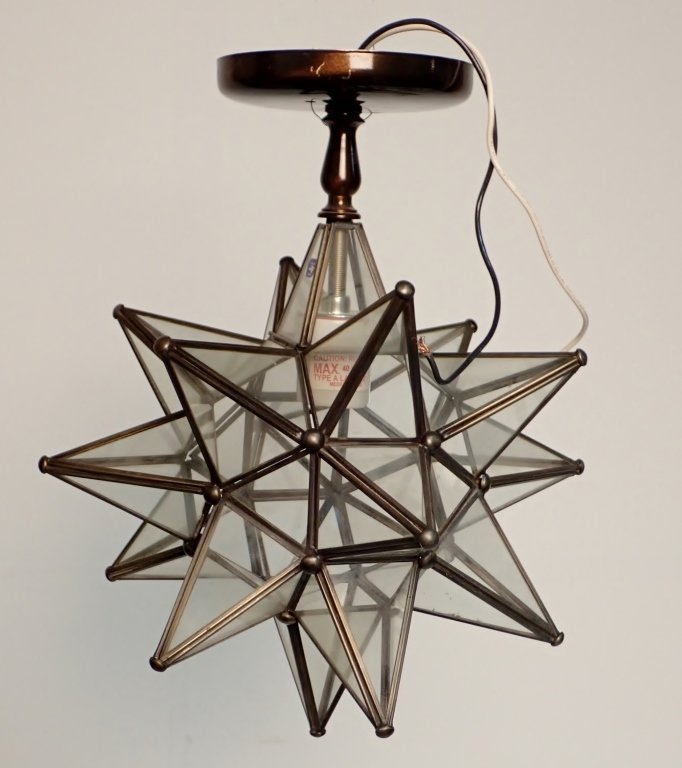 Hanging Ceiling Mounted Star Shaped Light Fixture
