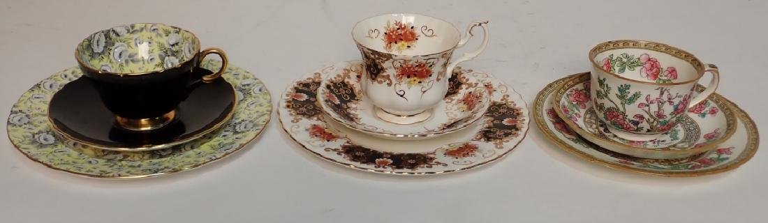 Grouping of Fine Bone China Tea Cup & Saucer Sets - 10