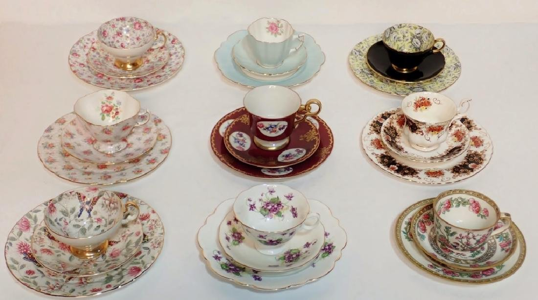 Grouping of Fine Bone China Tea Cup & Saucer Sets