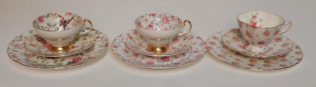 Grouping of Fine Bone China Tea Cup & Saucer Sets - 4
