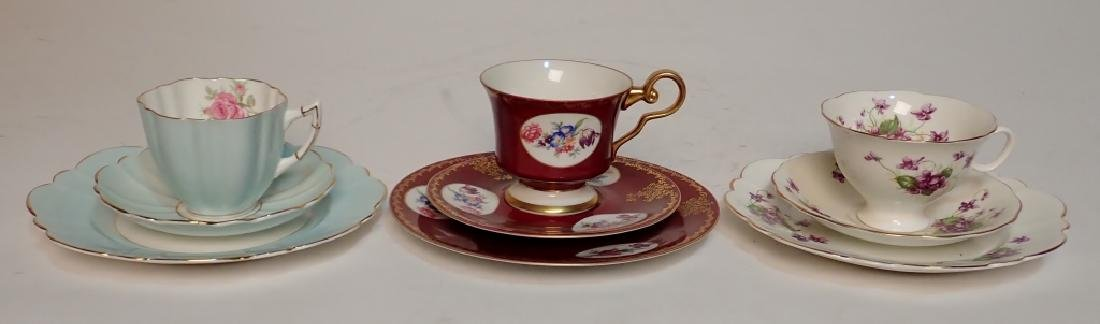 Grouping of Fine Bone China Tea Cup & Saucer Sets - 7
