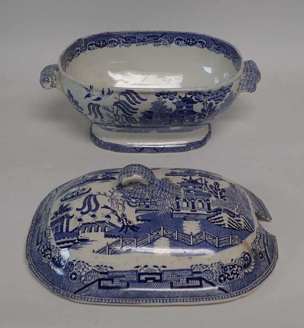Blue Willow Soup Tureen, Shaker Set and Book - 2