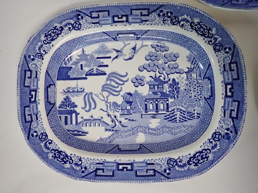 Porcelain Blue Willow Platter Assortment - 2