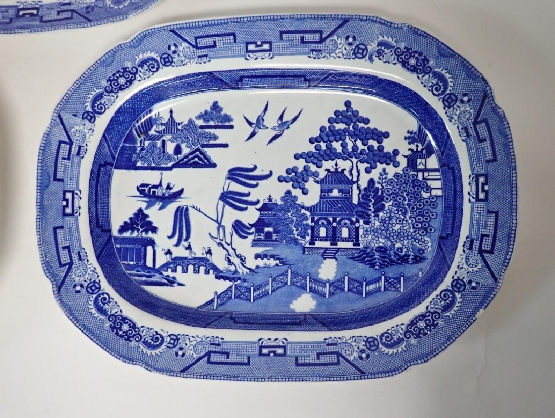Porcelain Blue Willow Platter Assortment - 3