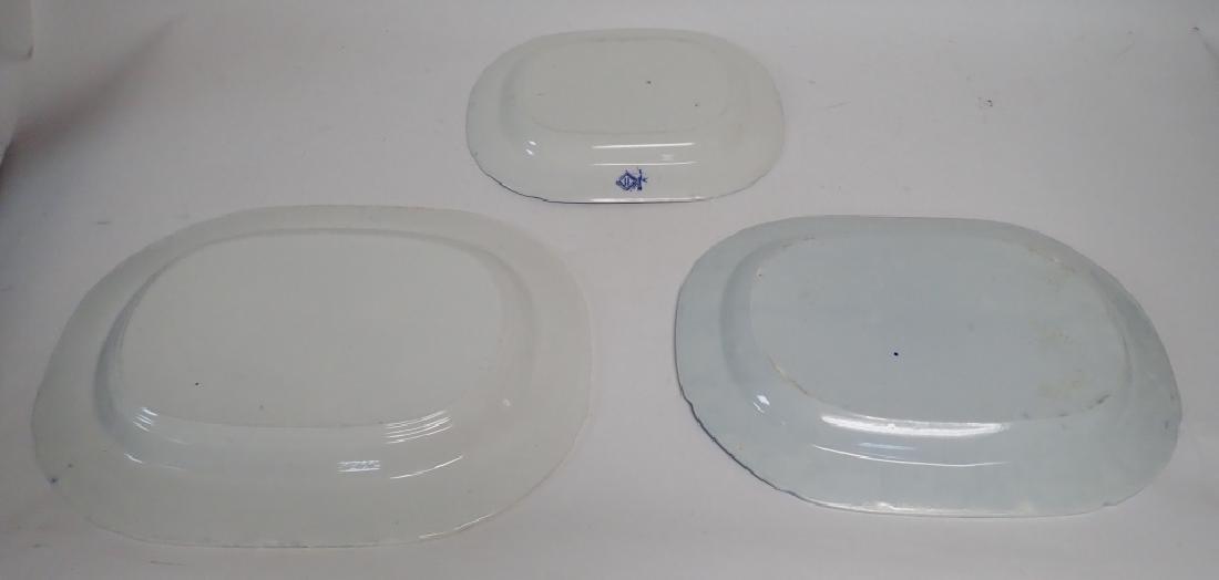 Porcelain Blue Willow Platter Assortment - 6