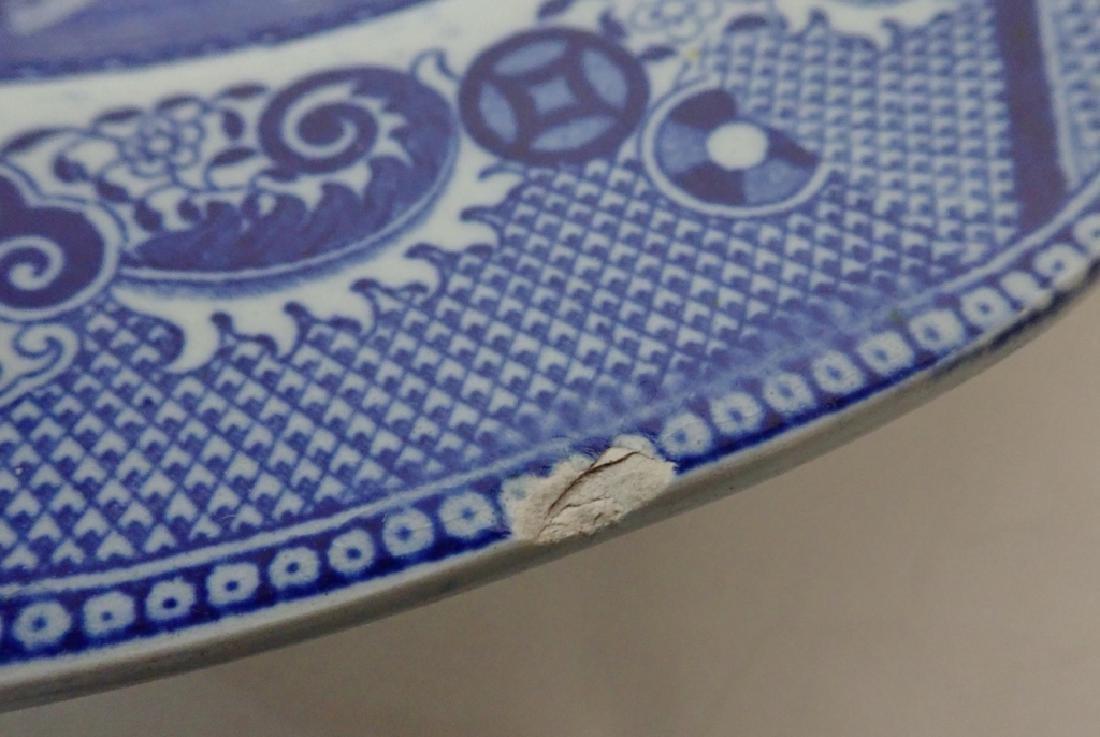 Porcelain Blue Willow Platter Assortment - 9