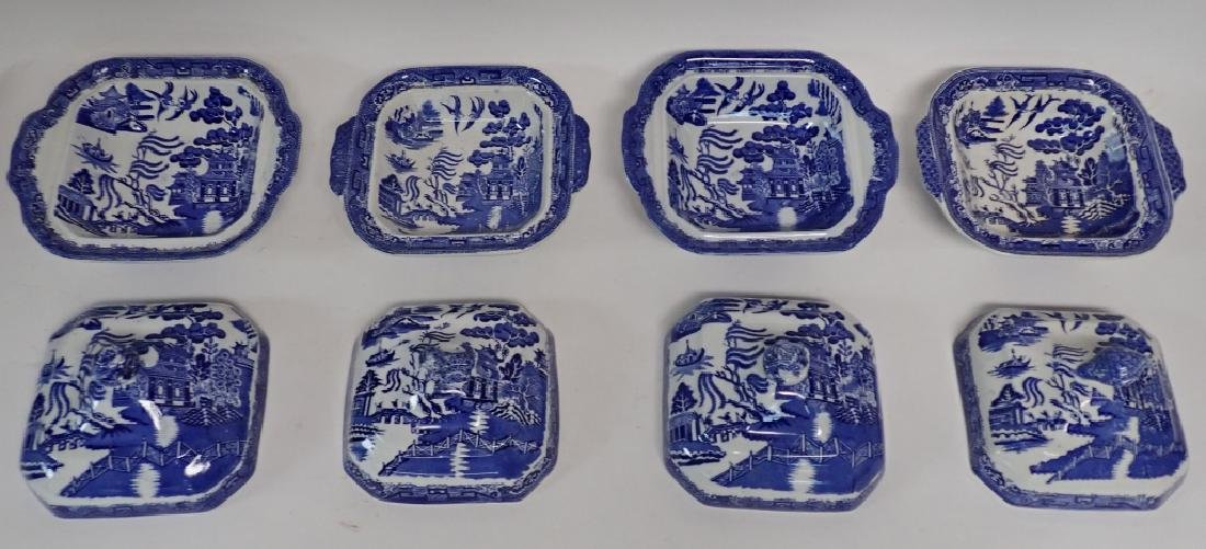 Collection of Blue Willow Covered Dishes - 4