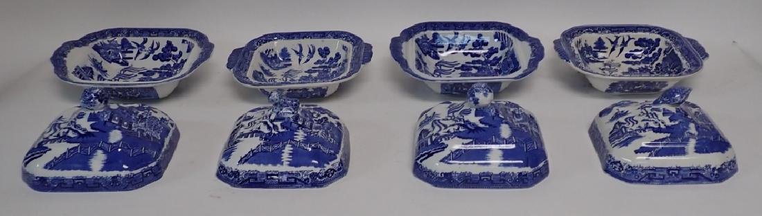 Collection of Blue Willow Covered Dishes - 5
