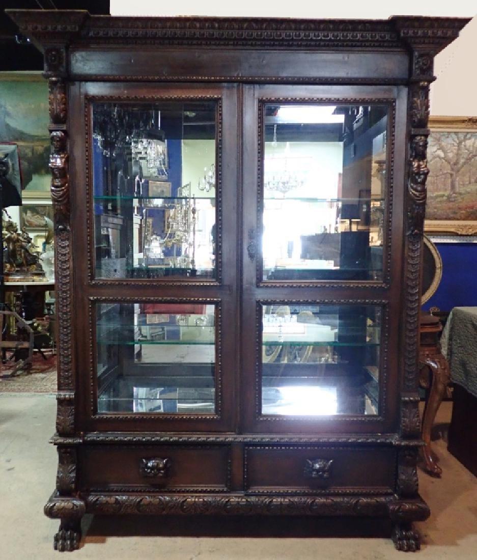 Renaissance Revival Carved Curio Cabinet