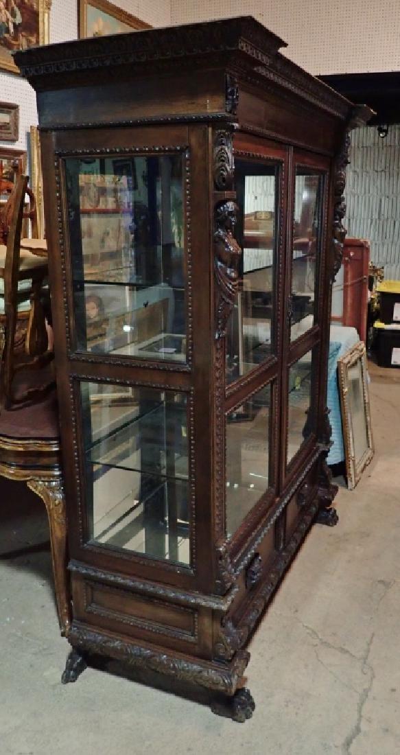 Renaissance Revival Carved Curio Cabinet - 2