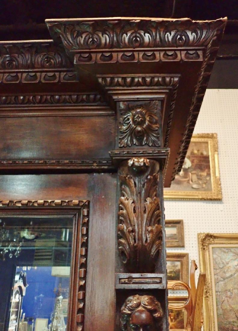 Renaissance Revival Carved Curio Cabinet - 4