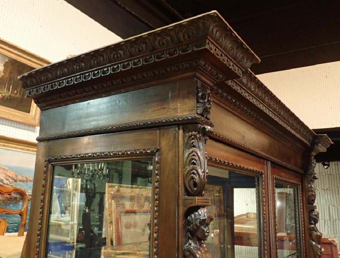 Renaissance Revival Carved Curio Cabinet - 6