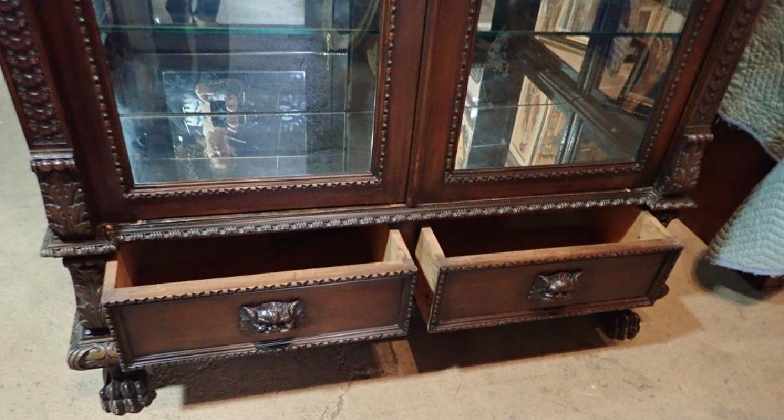 Renaissance Revival Carved Curio Cabinet - 8