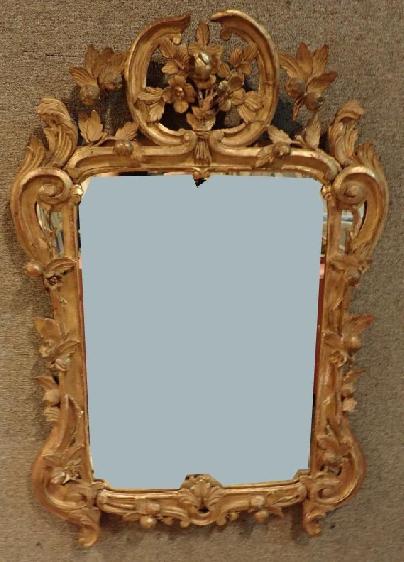 Antique Carved Gilt Mirror - 10