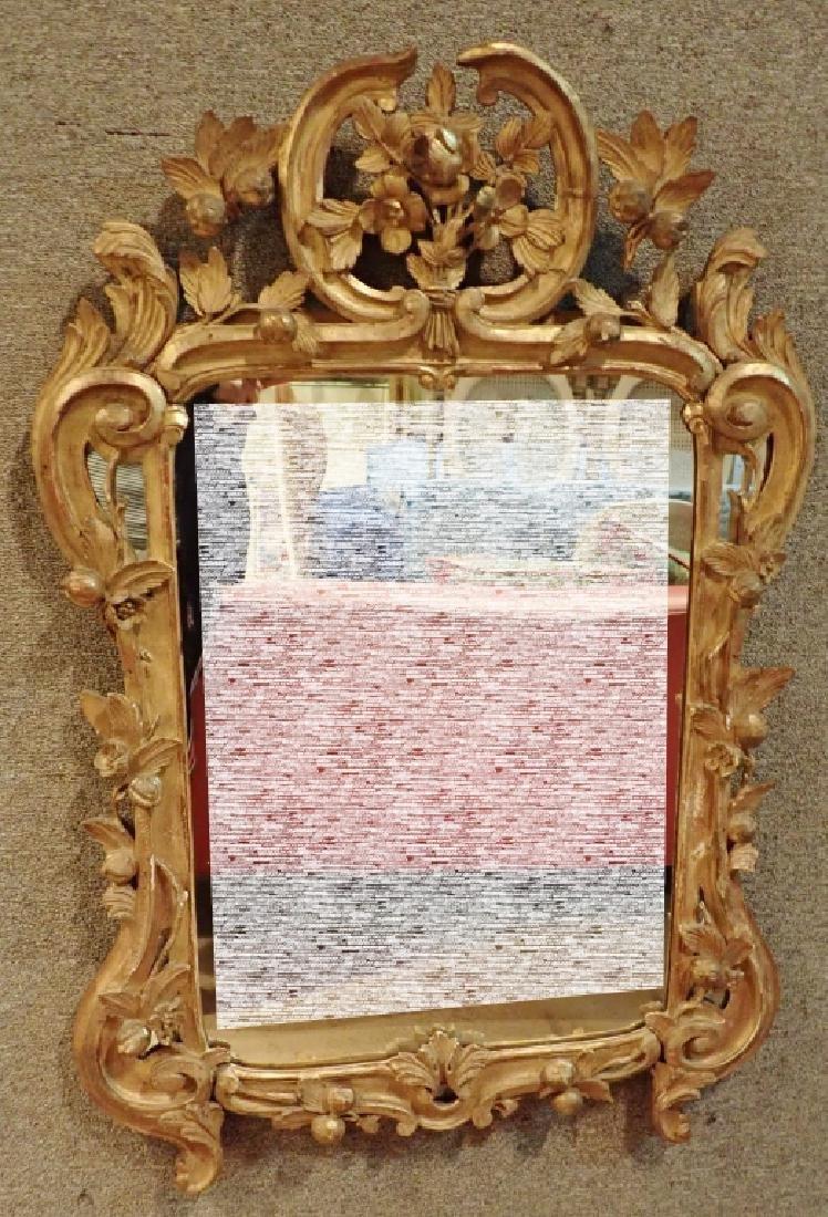 Antique Carved Gilt Mirror