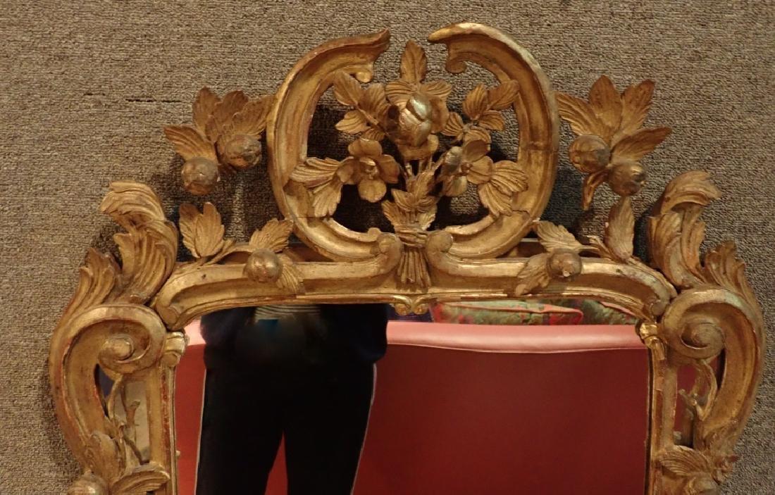 Antique Carved Gilt Mirror - 2