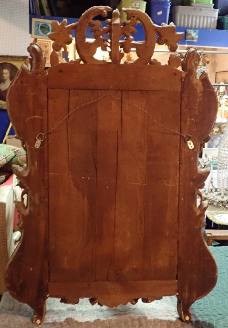 Antique Carved Gilt Mirror - 9