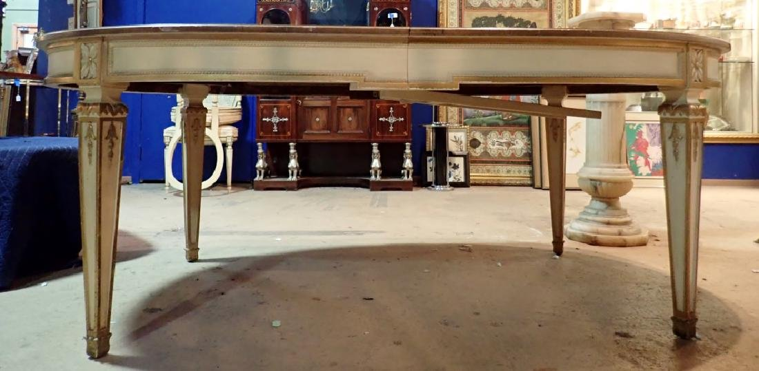 Ornately Carved Large Wooden Gilted Dining Table