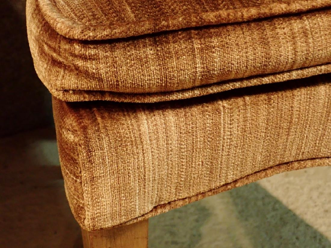 Pair of Velvet Upholstered Wooden Chairs - 6