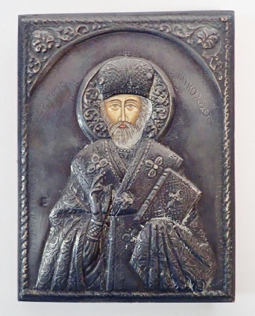 Russian Icon with Silver Oklad